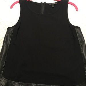 Banana Republic tank with leather detail